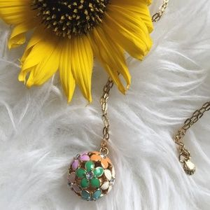 J. Crew Flower Ball Pendant Necklace
